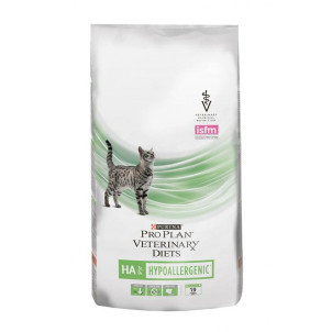 Диета Purina Pro Plan Veterinary Diets HA для кошек с аллергическими реакциями, 1,3 кг